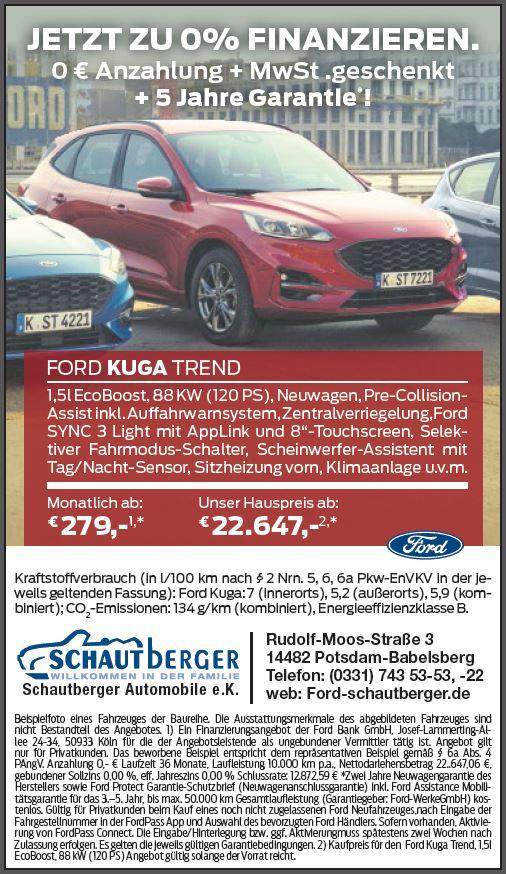 Angebot Ford Kuga Trend