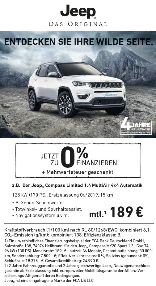 Angebot JEEP Compass